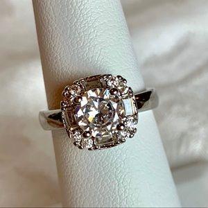 Boutique | Stunning CZ Diamond Halo Ring